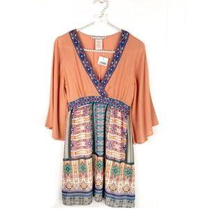 NWT Flying Tomato Orange Aztec Dress SZ Small